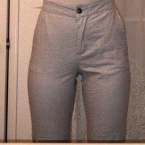 Grey Striped Pants